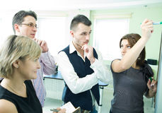 Business team in discussion Royalty Free Stock Photography
