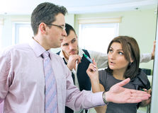 Business team in discussion Royalty Free Stock Images