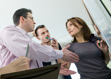 Business team in discussion Royalty Free Stock Photo