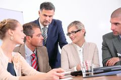 Business team - discussion Stock Images