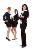 Business team diversity happy isolated Stock Images