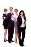 Business team diversity happy isolated. On white Stock Photos