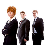 Business team diversity happy isolated. On white Royalty Free Stock Photos