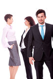 Business team diversity happy isolated Stock Photography