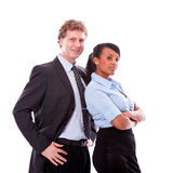 Business team diversity happy isolated Royalty Free Stock Image
