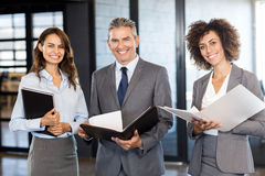 Business team with document and organizer Royalty Free Stock Image