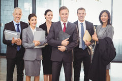 Business team with document and organizer Royalty Free Stock Photography