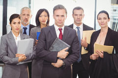 Business team with document and organizer Royalty Free Stock Photos
