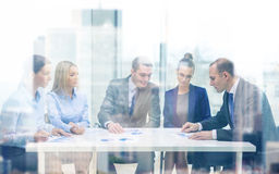 Business team with documents having discussion Stock Images