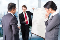 Business team drafting in strategy meeting Royalty Free Stock Images