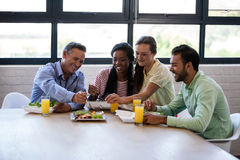 Business team eating together Royalty Free Stock Image