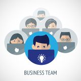 Business team emblem Stock Images