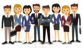 Business team of employees vector stock photos