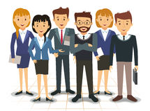 Business team of employees vector Royalty Free Stock Photography