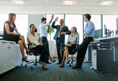 Business team enjoying success at office Royalty Free Stock Photo