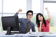 Business team expressing success Stock Photo