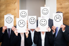 Business Team Feeling Sad, Happy Or Neutral Royalty Free Stock Photo