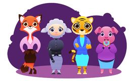 Business team of female animals Stock Image