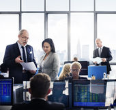Business Team Finance Stock Exchange Busy Cocnept Royalty Free Stock Image