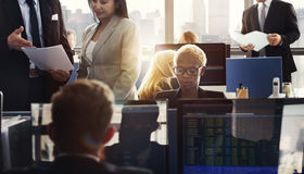 Business Team Finance Stock Exchange Busy Cocnept Royalty Free Stock Photography