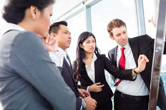 Business team on flipboard Stock Images