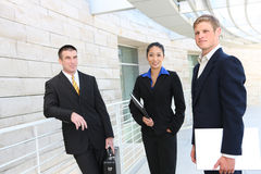 Business Team (Focus on Woman) Stock Photo