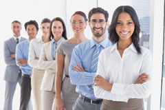 Business team with folded arms Royalty Free Stock Image