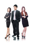 Business team formed of business men and women stock photography