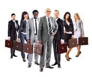 Business team formed of  businesspeople Stock Photo