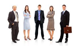 Business team formed of young Royalty Free Stock Photography