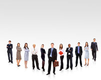 Business team formed by young Royalty Free Stock Photo