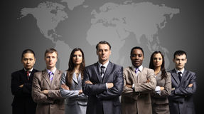 Business team formed of young businessmen royalty free stock photo