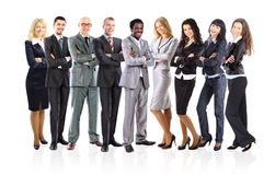 Business team formed of young businessmen Stock Photo