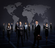 Business team formed of young businessmen standing Royalty Free Stock Photography