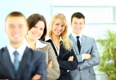 Business team formed of young businesspeople Royalty Free Stock Photography