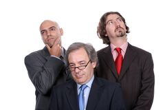 Business team full of thoughts royalty free stock images