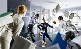 Business team games. Mixed media stock photography