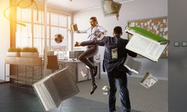 Business team games. Mixed media royalty free stock photos