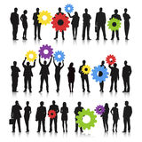 Business team with gear Vector. The vector of Business team with gear bubble royalty free illustration