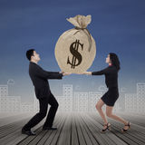 Business team get many income Stock Photography