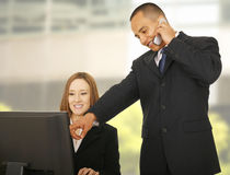Business Team Getting Busy Royalty Free Stock Photo