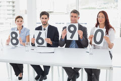Business team giving out ratings Stock Photography