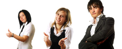 Business team giving thumbs up Stock Images