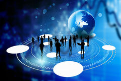 Business team with global business connection Royalty Free Stock Images