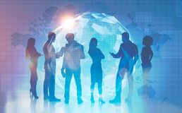 Business team in global world concept royalty free stock images