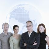 Business team globe Stock Image