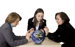 Business team with globe Stock Images