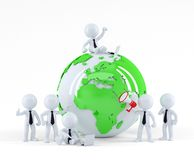 Business team with globe. Business concept. Royalty Free Stock Photo