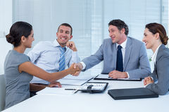 Business team greeting each other Stock Images