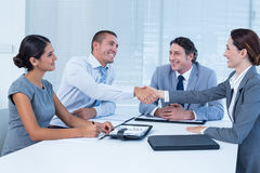 Business team greeting each other Stock Image